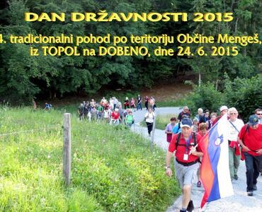 4. tradicionalni pohod po teritoriju Občine Mengeš, iz TOPOL na DOBEN