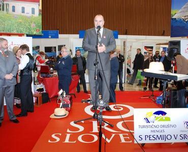 Predstavitev občine Mengeš in Turističnega društva Mengeš na sejmu Alpe Adria turizem in prosti čas