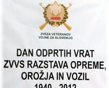 Dan odprtih vrat ZVVS - razstava opreme, orožja in vozil 1940 - 2012 in obisk predsednika R Slovenije g. Danila Türka